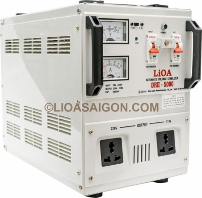 Ổn áp 1P DRII LiOA DRII-5000 5kVA (Trắng Sữa)