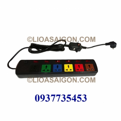 Ổ cắm điện LiOA 6 lỗ 3 chấu tích hợp chống giật 6DOF33N-CG