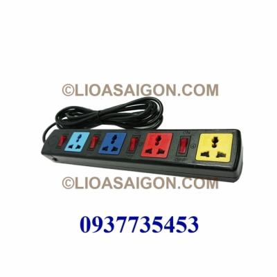 Ổ cắm điện LiOA 4 lỗ 3 chấu 3 công tắt LiOA 4DOF32N