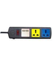 Ổ cắm đa năng có cổng sạc USB LiOA 3D32NUSB