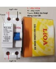 CB chống giật lioa 40A - 30mA - RCCB