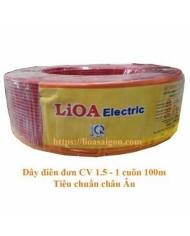 Dây điện đơn LiOA 1.5 mã CV 1.5 cuộn 100m