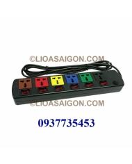 Ổ cắm điện LiOA 6 lỗ 3 chấu 6 công tắt 6DOF33N