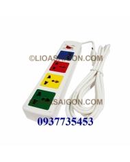 Ổ cắm đa năng có cổng sạc USB LiOA 4D32WNUSB (Màu trắng)