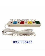 Ổ cắm điện LiOA 4 lỗ 3 chấu 4 công tắt 4DOF33WN (Trắng)