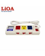 Ổ cắm kéo dài công suất lớn có đồng hồ báo công suất 3 ổ cắm 3 lõi dây LiOA 3OFSSA2.5-3 - 3OFSSA2.5-3