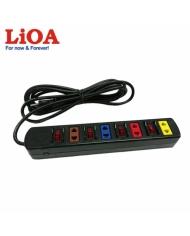 Ổ cắm kéo dài phổ thông 4 ổ cắm LiOA 4SOF3 - 4SOF3